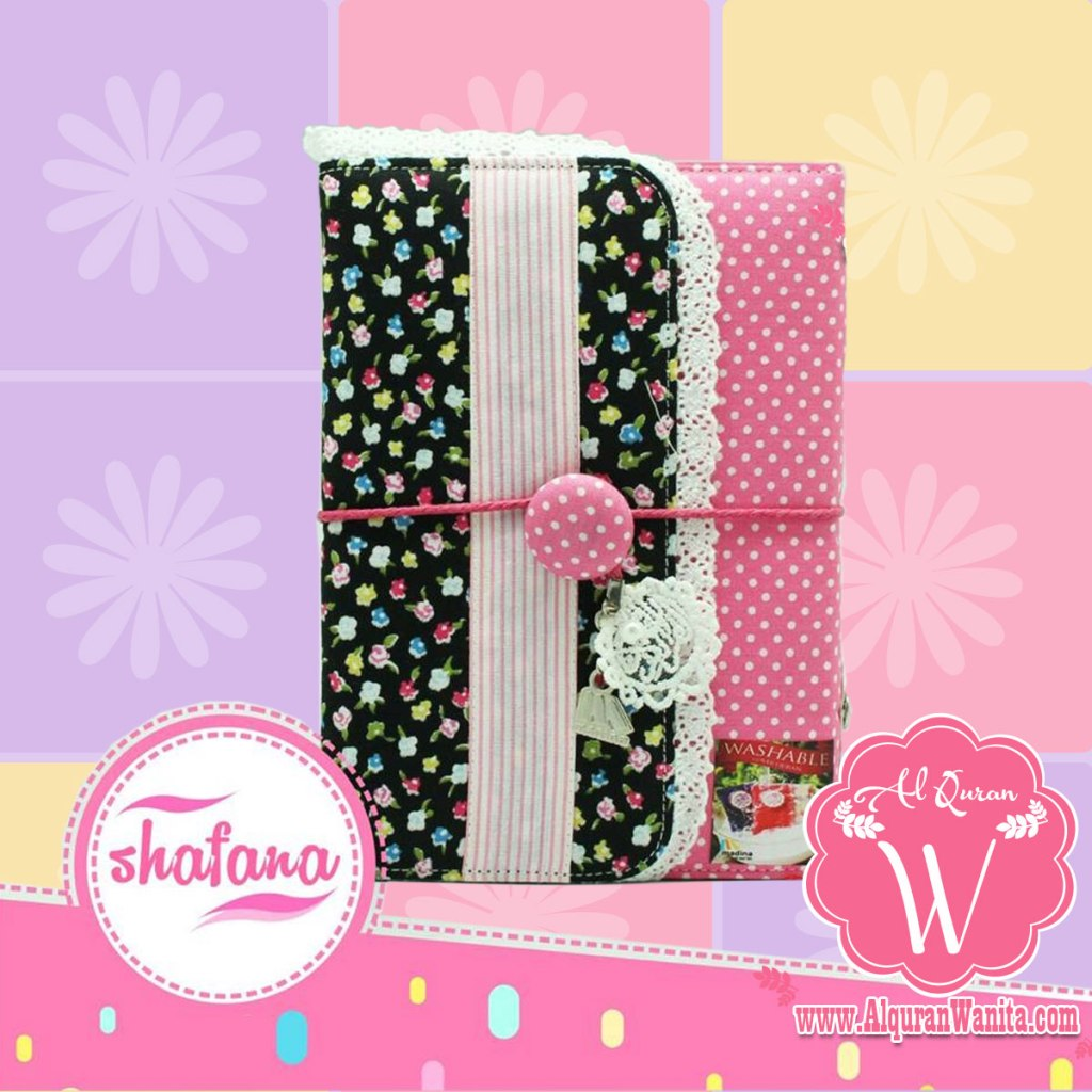 Al Quran Madina Shafana Pink Black